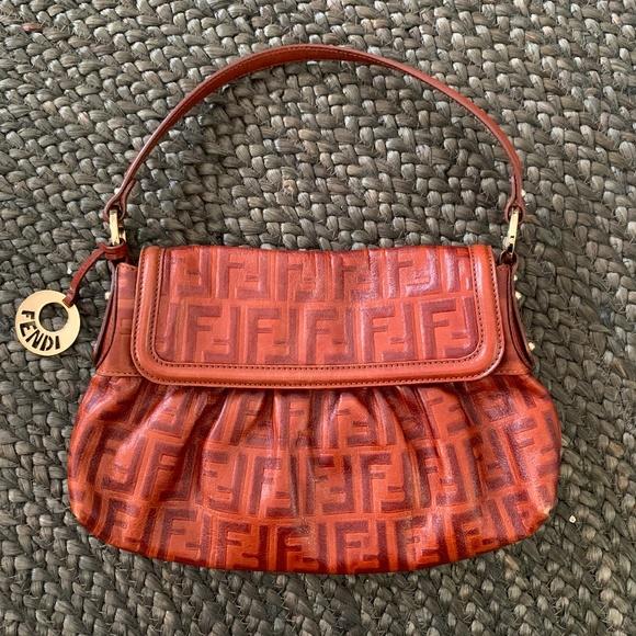 a02c1ef3b7 Fendi Bags | Rare Baguette Monogram Bag In Cognac Leather | Poshmark